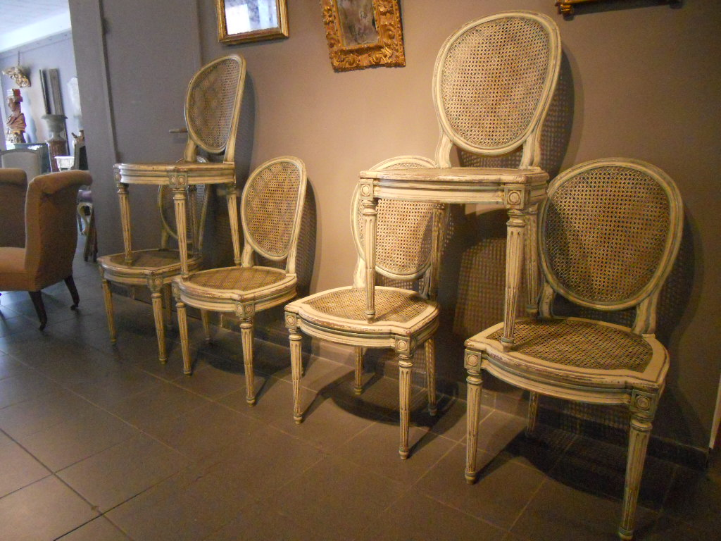 Louis XVI chairs (6)